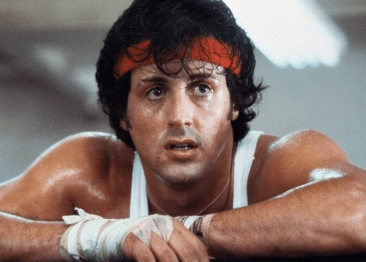 Sylvester Stallone with a surprised expression