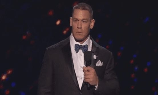John Cena in a suit and tie
