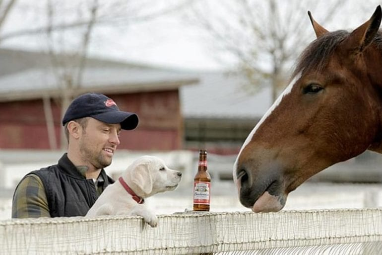 Don Jeanes and a dog