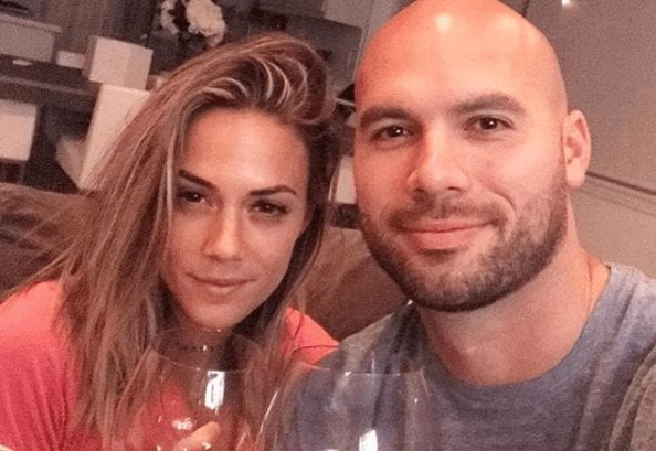Mike Caussin, Jana Kramer are posing for a picture
