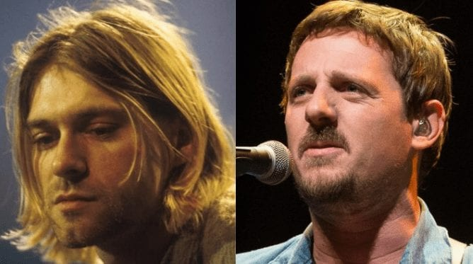 Kurt Cobain, Sturgill Simpson are posing for a picture