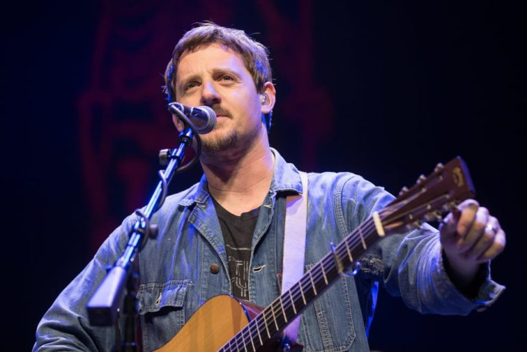 Sturgill Simpson with a guitar