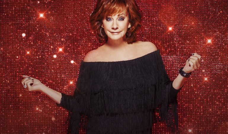 Reba McEntire with red hair