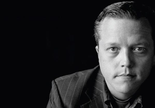 Jason Isbell with a serious expression