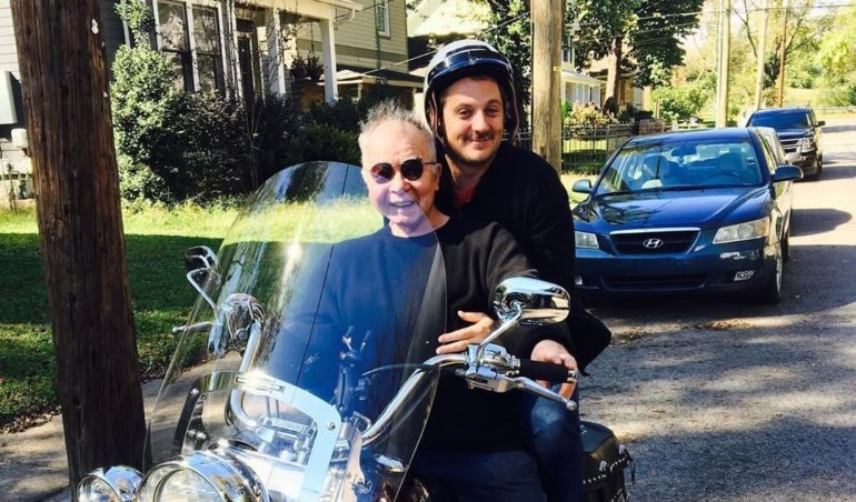 Sturgill Simpson and woman on a motorcycle