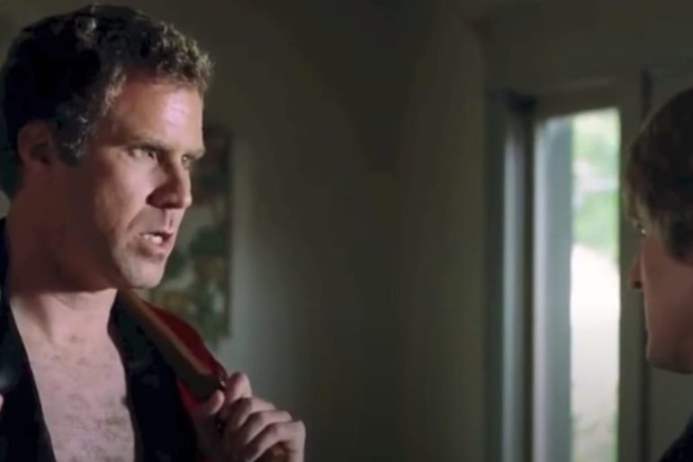 Will Ferrell looking at another man