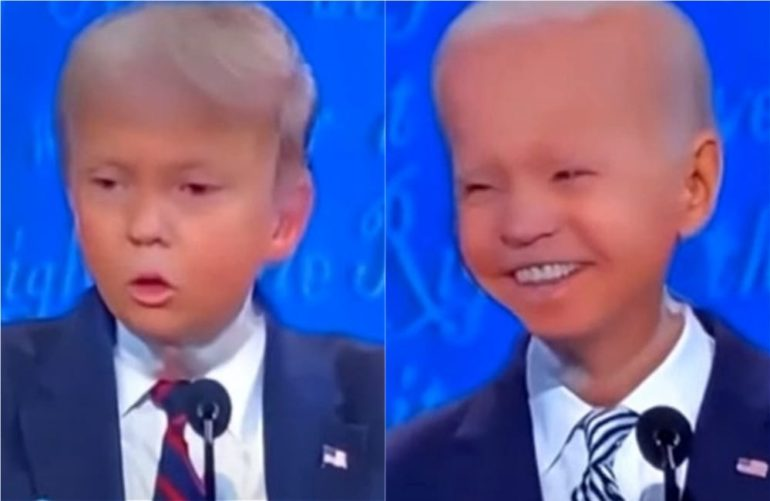 Someone Turned Trump And Biden Into Little Kids For The Debate And It S The Best Thing You Ll See Today Whiskey Riff