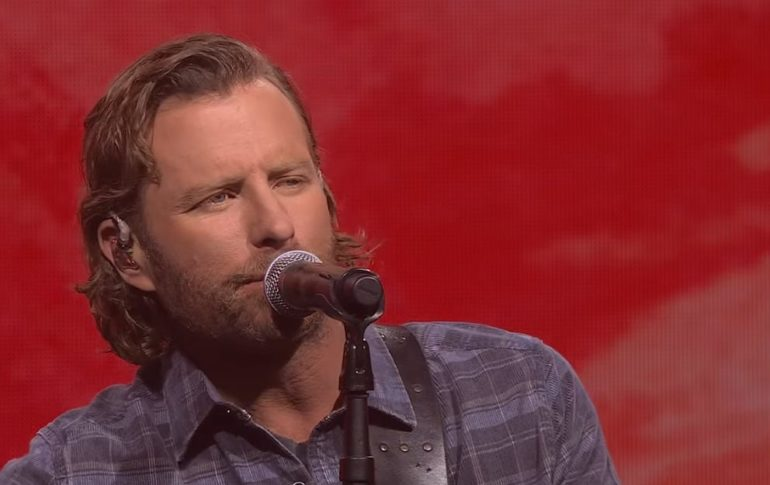 Dierks Bentley speaking into a microphone