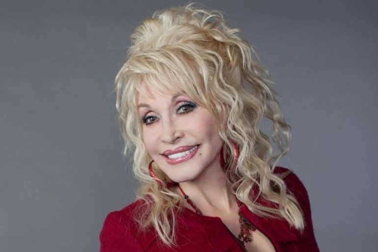 Dolly Parton with blonde hair
