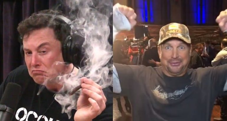 Elon Musk, Garth Brooks are posing for a picture
