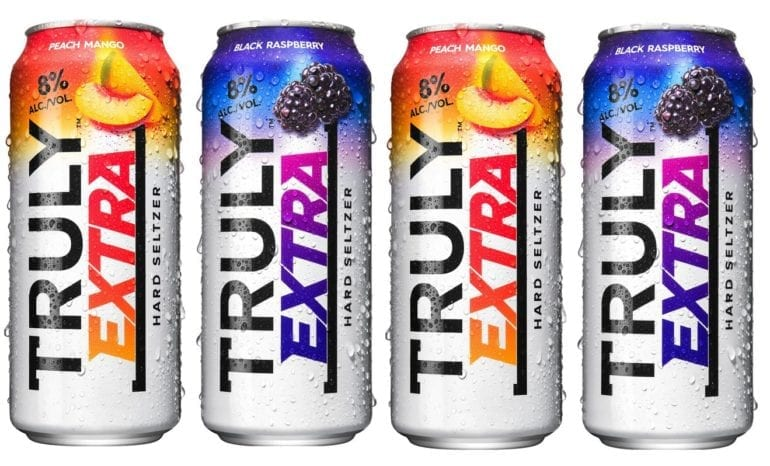 A row of colorful cans