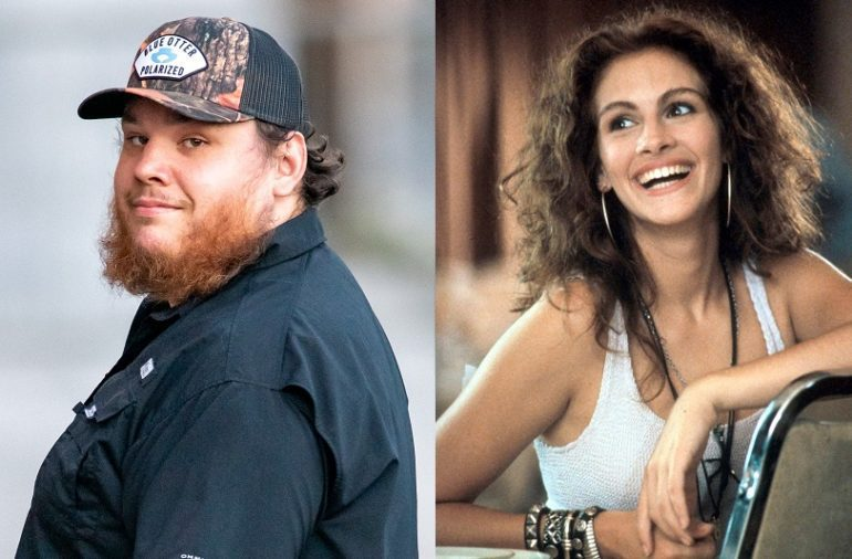 Luke Combs, Julia Roberts are posing for a picture