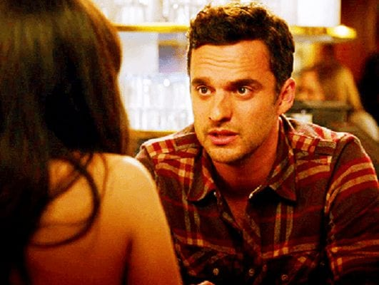 Jake Johnson looking at the camera