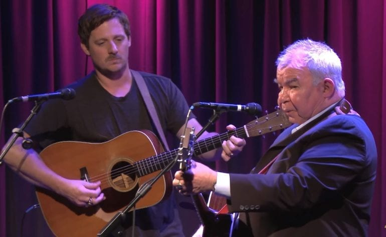 John Prine, Sturgill Simpson are posing for a picture